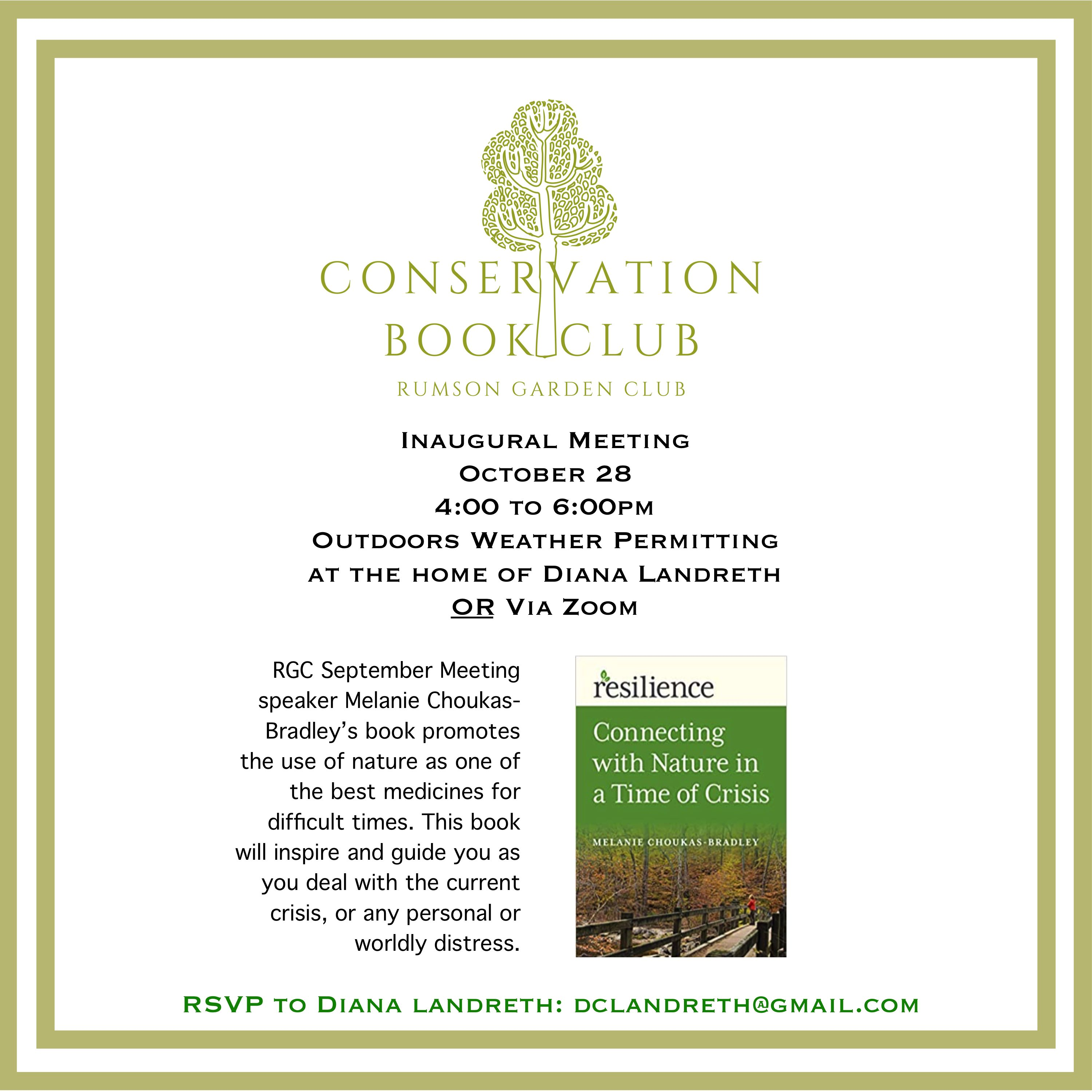 Conservation Book Club October 2020